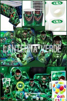 Decoracao completa Lanterna verde nas lojas Poah Festas www.poahfestas.com (51)32095778/91353577 Poahfestas@live.com