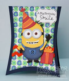 Pretty Paper, Pretty Ribbons, free cutting file today only for the minions....adorable..