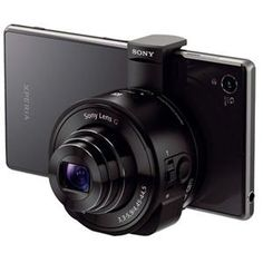 I think I need this. Sony DSC-QX10 Smartphone Attachable Lens-Style Camera, 18.2MP