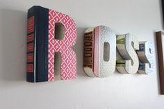 {Anthropologie Knock-Off} De DIY weekend editie: gave boekletters   Roomed (in Dutch)