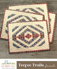 TEEPEE TRAILS Placemats