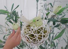 Nidos de pájaros para la decoración del hogar - http://www.manualidadeson.com/nidos-de-pajaros-para-la-decoracion-del-hogar.html