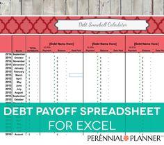 Debt Payoff Spreadsheet - Debt Snowball, Excel, Credit Card ...