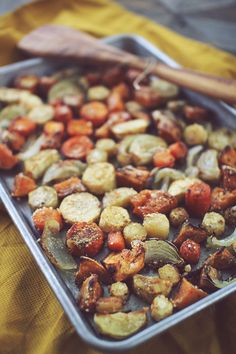 Roasted Fall Vegetables: sweet potatoes, onions, carrots, parsnips with salt, pepper, garlic powder, minced onion & poultry seasoning