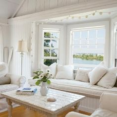beautiful window and window seat  via Evelyn Miller