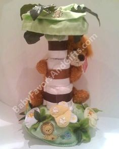 safari theme diaper cake.