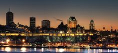Quebec City Skyline at Night