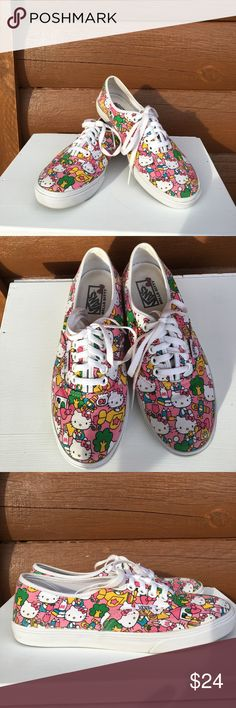 Hello Kitty Vans Adorable vans adorned with hello kitty print Vans Shoes Sneakers