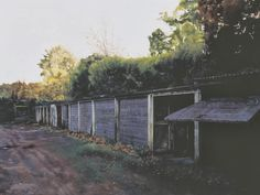 George Shaw, 'Scenes from the Passion: Late' Tate Gallery, London Contemporary Landscape, Urban Landscape, Landscape Art, Landscape Paintings, Landscapes, A Level Art, Sense Of Place, Art Uk, Built Environment