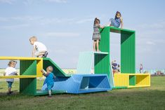 Play structure Intersections by Izabela Boloz #playground #playstructure #streetfurniture #izabelaboloz #intersections #installation #artinstallation