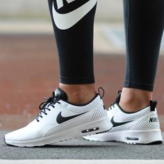 Women s Nike Air Max Thea  White White-Black  1b8ee33a8