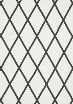 TARASCON TRELLIS APPLIQUE, Black on White, AW78712, Collection Palampore from Anna French
