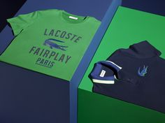 This season, the Lacoste crocodile shows its iconic silhouette in three dimensions with The Croc Polo and the Good Sport T-Shirt.