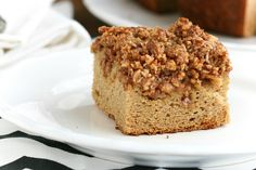 Grain Free Coffee Cake...yum!  would go great with my free green mountain fair trade coffee!!  yum!