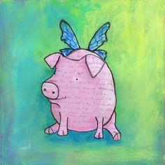 flying pig art
