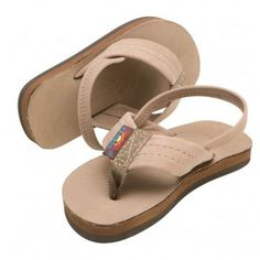 Rainbow Sandals Kid's Leather. Like the adult ones, they'll eventually form to your child's foot!