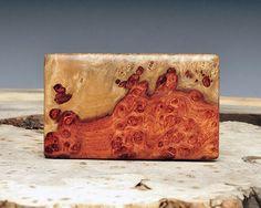 Exotic Wood Belt Buckle - Handmade with Amboyna Burl