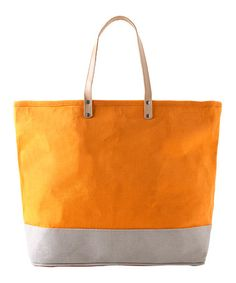 Take a look at this Orange Andrea Tote by Shiraleah on #zulily today!