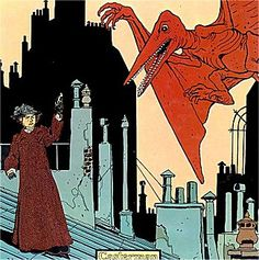 NPR coverage of The Extraordinary Adventures of Adele Blanc-Sec: Pterror over Paris and The Eiffel Tower Demon by Jacques Tardi and Kim Thompson. Comic Book Artists, Comic Book Characters, Comic Artist, Adele, Laurent Durieux, Best Comic Books, Ligne Claire, Bd Comics, Geek Culture