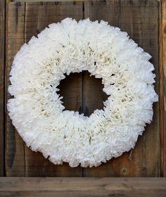 "Coffee Filter Wreath - 18"""