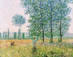 Claude Monet - Sous les peupliers, effet de soleil