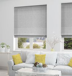 Providence Softest Grey Roman Blind