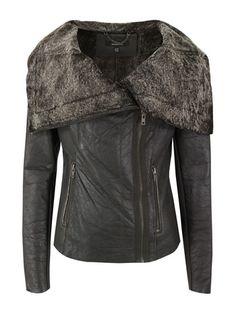 MUUBAA // Bitter Chocolate Leather Jacket