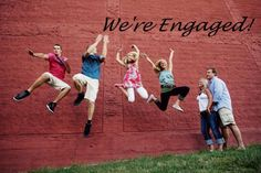 Our Engagement Announcement!  Blending two families to make one!