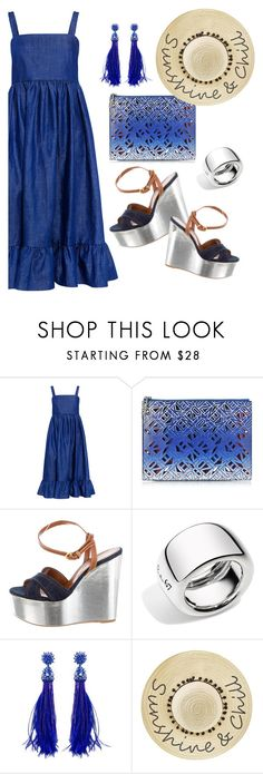 """""""Untitled #515"""" by pesanjsp ❤ liked on Polyvore featuring CO, Kenzo, Sergio Rossi, Pomellato, Oscar de la Renta and Betsey Johnson"""