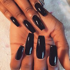 Long Black Nails Coffin Shaped Wtfimkels