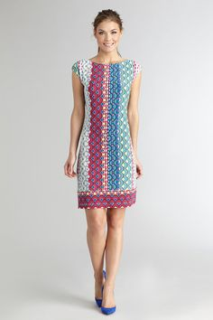 d800f5f1e05 Our classic easy jersey gets a fun update with a bold print. CMB · Donna  Morgan Dresses