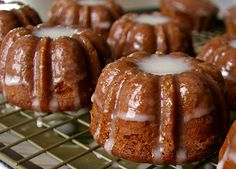 Gingerbread Bundts with Cinnamon Glaze..Perfect for gift giving!