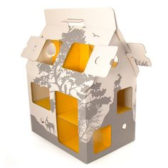 Mobilhome recycle geel   Karton   Speelgoed / creatief