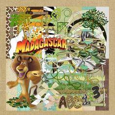 Madagascar Digital Scrapbook Kit