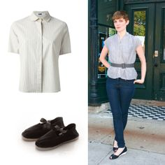 Combine this shirt them with jeans, our espadrilles by Arropame and...Ready!  Shop online: http://www.farfetch.com/es/shopping/arropame/women/items.aspx#ps=1&pv=60&oby=5&lsf=30&f1d0=701401&f30d1=135967&f30d2=135983&f30d3=136091:136101