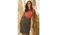 Spring Tweed A-Line Skirt