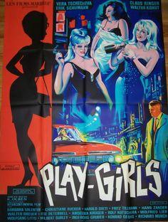 Playgirls of Frankfurt Original Vintage, Online Posters, Creative Posters, Drama Movies, Film Posters, Vintage Movies, Erotica, Girls, Smudging