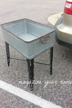 Before: Vintage-Style Washtub; Forget the after! I like this! Would love to plant in the garden.