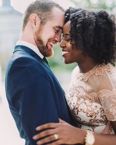 Gorgeous interracial couple engagement photography #love #wmbw #bwwm #swirl