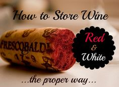 How To Store Red and White Wine Properly: Ways to Prevent Spoilage