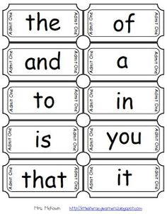 Little Literacy Learners: Fry Sight Word and Letter Tickets-FREEBIE