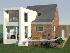 Die 217 Besten Bilder Von Haus Anbau Doppelhaus Siedlungshaus Design