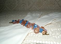 Vintage button bracelet depression glass by EmbracingThePresent, $65.00