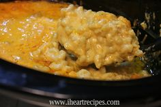 Slow Cooker Macaroni and Cheese. Pasta goes in uncooked.