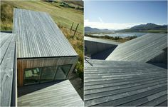 Architecture studio ARKIS constructed the green design of VillaLola with views of fjord of Eyjarfjördur in Iceland.
