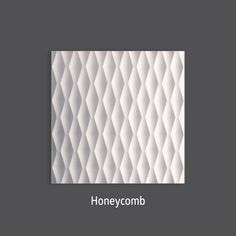 Infinite Geometry. Honeycomb 3D Wall Tile by #TexturalDesigns #SculpturalTile #3DTile #Wallcovering