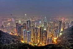 Hong Kong Skyline from Victoria Peak by Paul Cowell, via Flickr