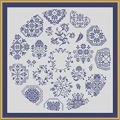Quaker Circle Lydia - Cross Stitch Pattern