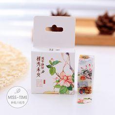 Rero Style Flowers Decorative Washi Tape DIY Scrapbooking Masking Tape School Office Supply Escolar Papelaria #Affiliate