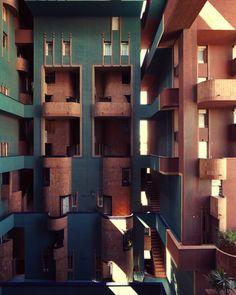 walden 7 apartments - sant just desvern spain - ricardo bofill